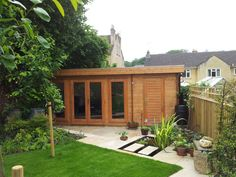 This versatile log cabin incorporates a garden room with an integral store - neat heh? Summer House Garden, Home And Garden, Summer Houses, Garden Modern, Shed Design, Garden Design, Design Design, Garden Office Shed, Somerset Garden