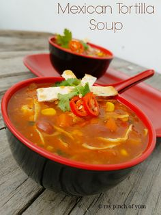 This Mexican Tortilla Soup tastes divine and is perfect for a filling, delicious and simple meal. I am sureyou willwant to have an endless bowls of this soup. I love the veggie chunks in here an…