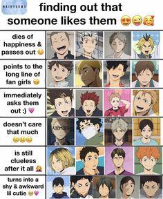 Haikyuu Karasuno, Haikyuu Funny, Haikyuu Ships, Haikyuu Fanart, Kageyama, Otaku, Hinata, Anime Chart, Anime Guys