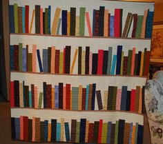 Bookcase Quilt!  Wow!