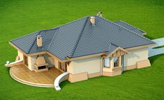 Wizualizacja DN Verona CE Tiny House Living, My House, Verona, Three Bedroom House Plan, Modern Bungalow House, House Design Pictures, Architectural House Plans, Simple House Design, Best House Plans