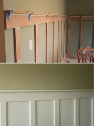 a less expensive way to have chair rail/wainscoting.  DIY - Board and Batten Step-by-Step Tutorial!!!