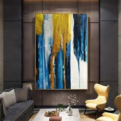 Original gold acrylic Abstract paintings on canvas wall art pictures for living room home wall decor thick textured gold quadros decoration Original gold abstrakte Acrylgemälde auf Leinwand Wand Kunst Abstract Canvas, Canvas Wall Art, Abstract Paintings, Art Paintings, Original Paintings, Living Room Paintings, Pink Abstract, Blue Canvas, Painting Art