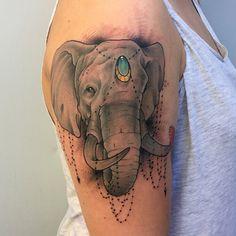 Elephant Tattoo neo traditional
