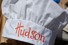 Personalized child sized chef hat - SewByL.etsy.com