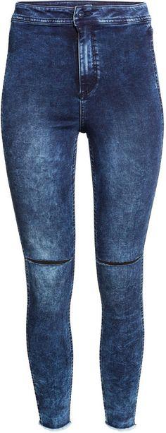 345b89bb884 H M - Skinny High Ankle Ripped Jeans - Dark denim blue - Ladies