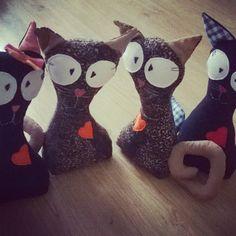 taliowane koty jako stopery do drzwi albo przytulaki dla najmłodszych :)
