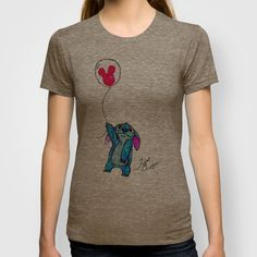 Stitch doesn't want to leave Disney World T-shirt by Trinity Bennett - $18.00 AVAILABLE IN SEVERAL COLORS