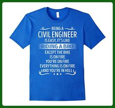 Mens Being A Civil Engineer It's Like Riding A Bike TShirt 3XL Royal Blue - Careers professions shirts (*Amazon Partner-Link)