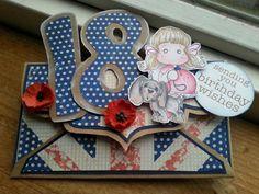 Dutch Doobadoo envelope art Envelope Art, Box, Dutch, Birthday Cards, Number, Frame, Decor, Bday Cards, Picture Frame