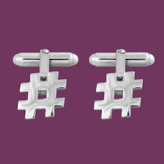 Hashtag Cufflinks #cufflinks Sterling Silver men's accessories from www.edgeonly.com #maintainyouredge #edgeonly
