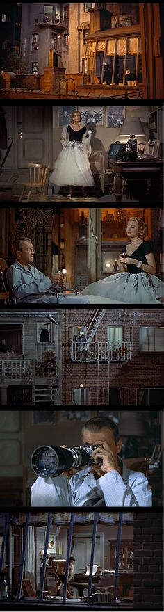 "Even more stills from ""Rear Window"" -- Hitchcock. 1954."