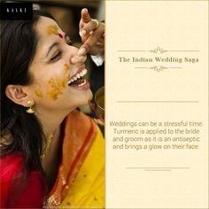 The Haldi or pithi ceremony is a typical Indian ritual.