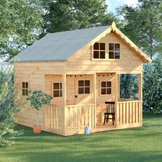 Playhouse Sol 72 Outdoor Installation Included: No Kids Wooden Playhouse, Kids Playhouse Plans, Diy Playhouse, Playhouse Outdoor, Girls Playhouse, Kids Clubhouse, Wendy House, Dcor Design, Play Houses