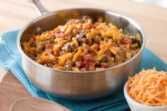 """Tex-Mex Cheddar Mac recipe - """"My family really liked this! A super recipe to make when you either have very little time or have no ideas what to make for supper!"""""""