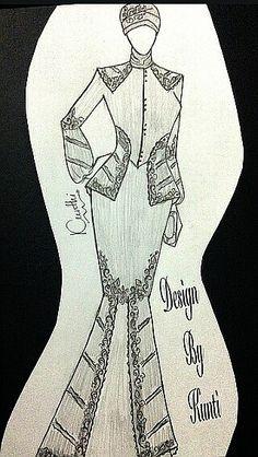 Muslim dress (batik kombinasi polos)