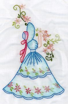 machine embroidery designs at embroidery Embroidery Needles, Hand Embroidery Patterns, Vintage Embroidery, Embroidery Applique, Cross Stitch Embroidery, Machine Embroidery Designs, Embroidery Techniques, Needlework, Suffragette