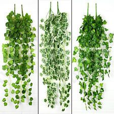 New Artificial Ivy Vine Fake Foliage Flower Hanging Leaf Garland Plant 9