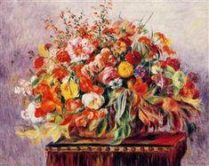 Basket of Flowers - Pierre-Auguste Renoir