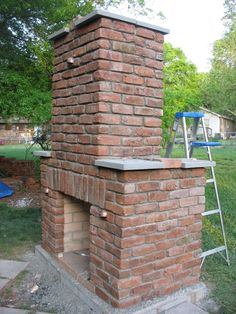 Build an Outdoor Fireplace this woman never used Mortar and