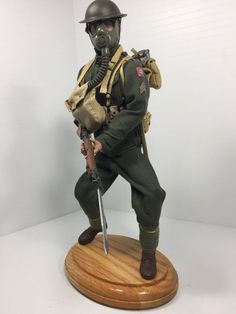 "1/6 SIDESHOW US 82ND ""ALL AMERICAN"" DIV DOUGHBOY + STAND WW1 DRAGON BBI DID 