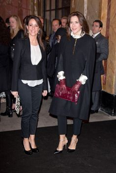(L-R) Princess Marie of Denmark and Princess Mary of Denmark attend the Malene Birger show at the Royal Theatre during day two of Copenhagen Fashion Week Autumn/Winter 2013 on 31 Jan