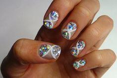 Glittery nail art by Pixie Polish