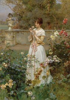 """""""The Rose of all Roses"""" (1889) by Wilhelm Menzler"""