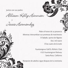 Pequeas flores spanish wedding invitation i print your wording in pequeas flores spanish wedding invitation i print your wording in spanish on one side and english on the other wedding invitations pinterest spanish filmwisefo Image collections
