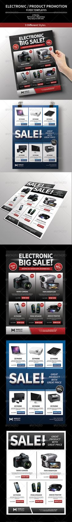Electronic / Product Promotion Flyer. This Electronic / Product Promotion Flyer, can be used for promote your Electronic product, Black Friday sale promotion, Christmas time sale season, etc. Very easy to edit text.
