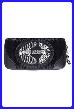 Banned Vine Black Ribcage Lace Wallet - Black / One Size - Wallets (*Amazon Partner-Link)