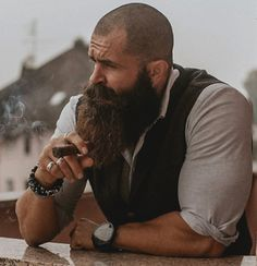 The Best Long Beard Style Ideas That Trending Nowadays 33 Bald Men With Beards, Bald With Beard, Great Beards, Long Beards, Awesome Beards, Badass Beard, Epic Beard, Long Beard Styles, Hair And Beard Styles