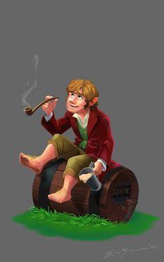 Bilbo Baggins Illustration #illustration