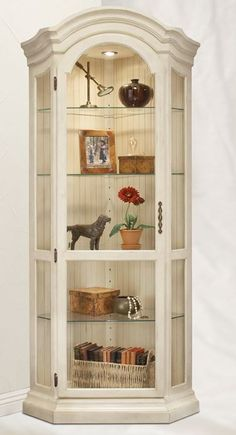 need a curio cabinet, too: Philip Reinisch Color Time Panorama - Modern Corner Curio Display Cabinet in Hardwood Curio Cabinet Decor, Corner Display Cabinet, Corner Curio, Curio Cabinets, Display Cabinets, Hutch Furniture, Furniture Makeover, Painted Furniture, Paneling Makeover