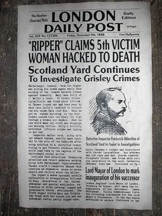 "(393) NOVELTY POSTER HALLOWEEN JACK the RIPPER LONDON WHITECHAPEL 11""x17"" in Collectibles, Holiday & Seasonal, Halloween 