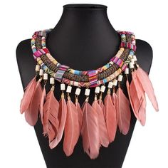 Charity Tassel Feather Necklace
