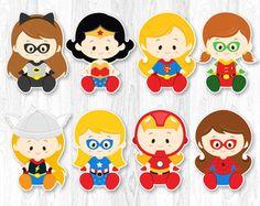 Superhero Baby Centerpiece Superhero baby Table por KidzParty