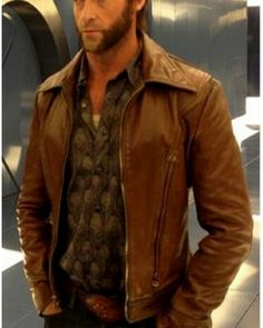 #XMen Days of #Future Past Brown Leather Jacket  #freeShipping on all order