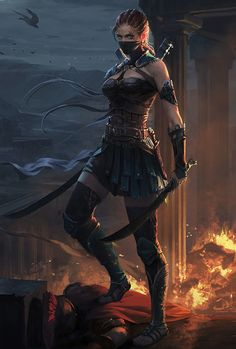 Dark Fantasy is the Best Fantasy Fantasy Warrior, Fantasy Girl, Chica Fantasy, Warrior Girl, Fantasy Women, Anime Warrior, Warrior Women, Anime Fantasy, Fantasy Artwork