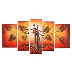 Hand Painted Modern Abtract Framed Canvas Wall Art Oil Paintings Human Body Couple Love Trees Ready to Hang for Living Room Wall Decor Nature Paintings, Oil Paintings, Canvas Wall Art, Framed Canvas, Oil Painting Pictures, Jesus Painting, Modern Wall Decor, Vivid Colors, Hand Painted