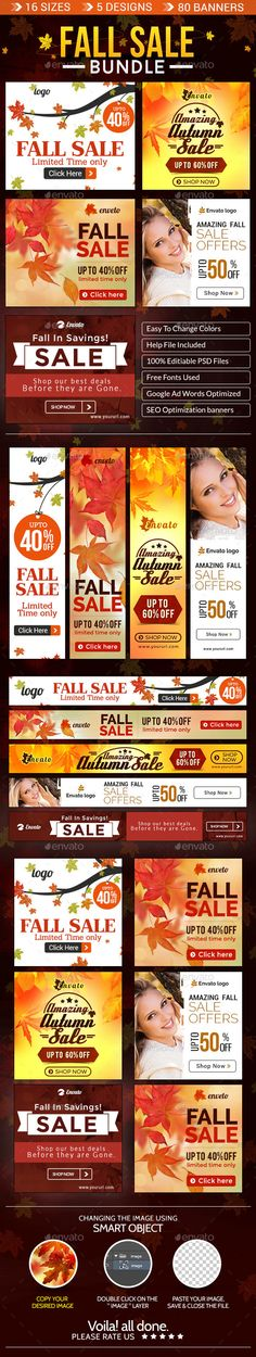 Fall Special Sale Banner Bundle - 5 Sets Template PSD | Buy and Download: http://graphicriver.net/item/fall-special-sale-banner-bundle-5-sets/9072936?WT.ac=category_thumb&WT.z_author=doto&ref=ksioks