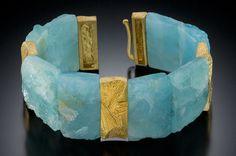 Klaus Spies, Rough-cut aquamarine cuff