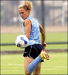 Check out why Kristine Lilly love soccer:  Love for the game of soccer: