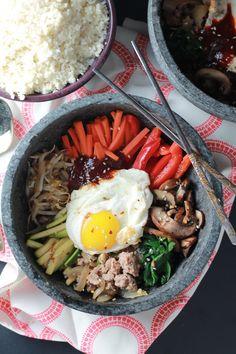 Korean Bibimbap Bowls with Cauliflower Rice