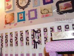 Trendy Peas' custom photo canvas is part of this lovely gallery wall for baby Annabel.