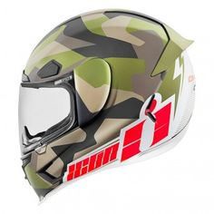 Icon Airframe Pro Deployed Mens Camo Street Bike Motorcycle Biker Helmets