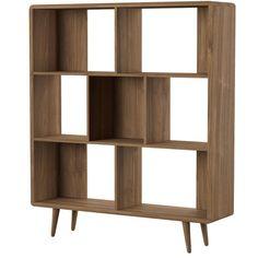 Modway Transmit Mid-Century Offset Cube Wood Bookcase in Walnut Furniture Deals, Online Furniture, Home Furniture, Modern Furniture, Furniture Movers, Discount Furniture, Kitchen Furniture, Bedroom Furniture, Walnut Furniture
