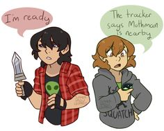 I can see this happening if they were in a normal AU where Keith and Pidge are like total BFF'S and always going on adventures trying to find weird unknown things while giving eveyone a heartattack especially when they do find something.