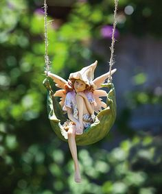 Take a look at this Pensive Petal Fairy Figurine by Evergreen on #zulily today!