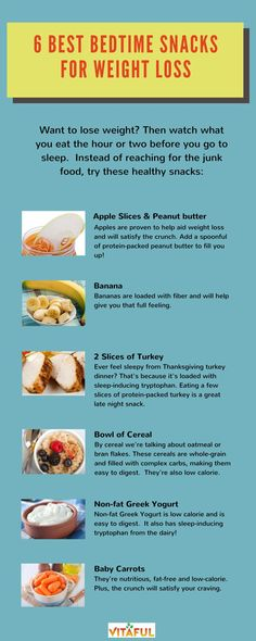 Weight Loss Tips: Watch what you eat the hour or two before bed.  Instead of reaching for the junk food, try these healthy snacks.